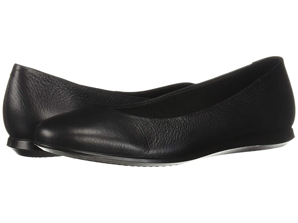 fa4419fd ECCO Touch Ballerina 2.0 (Black Cow Leather) Women's Flat Shoes ...