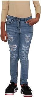 A2Z 4 Kids/® Ragazze Elastico Jeans Bambini Girls Jeans Ripped Light Blue 9-10