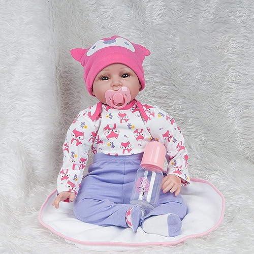 Hongge Reborn Baby Doll,Lebensechte Wiedergeburt Puppe neugeborenes Baby Puppe Geschenk 55cm