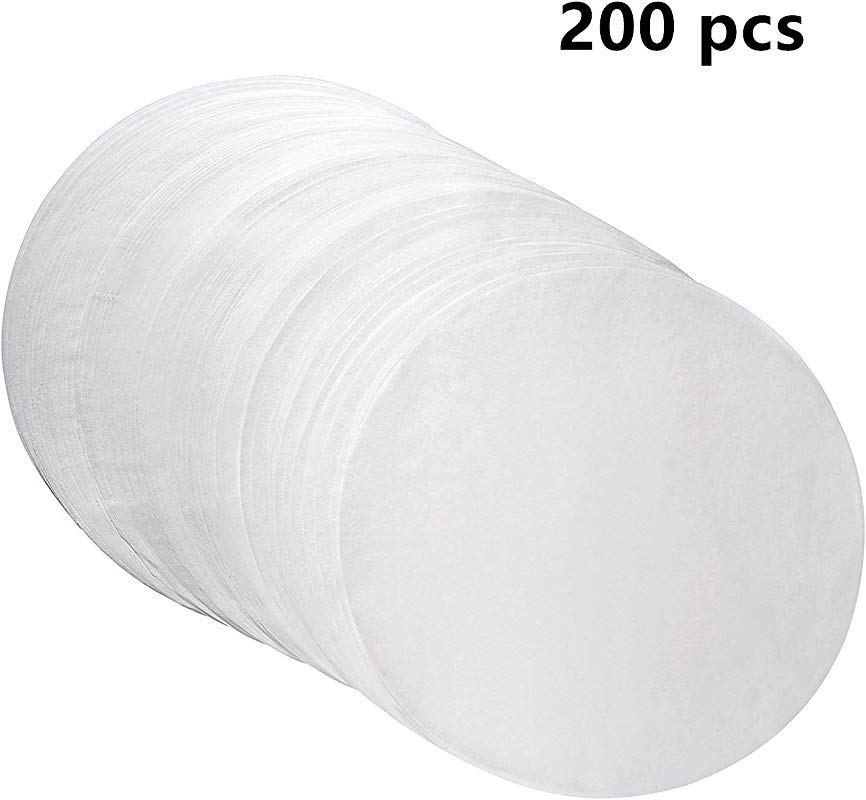Set Of 200 Parchment Paper Baking Circles 8 Inch Diameter Baking Paper Liners For Baking Cakes Cooking Dutch Oven Air Fryer Cheesecakes Tortilla Press