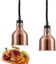 WOERD Lampe Chauffante pour Buffet, Lampe Chauffe-Plats Rétractable, Lampe Chauffante pour Aliments Commerciale avec Ampou...