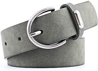 SGJFZD Women's Pu Belt Alloy Accessories Fashionable Trend Beautiful Wild Pin Buckle Belt Frosted Skin Belt Women (Color : Green, Size : 103 * 3cm)