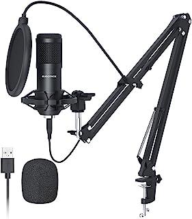 USB Streaming Podcast PC Micrófono,SUDOTACK Profesional 192KHZ/24Bit Estudio Cardioide Condensador Mic Kit con Tarjeta de ...
