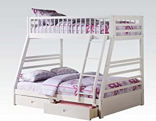 Acme Furniture Jason Twin Over Full Bunk Bed with 2 Drawers in White