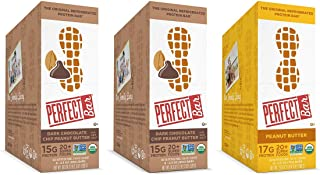 Perfect Bar Original Refrigerated Protein Bar, Dark Chocolate Chip Peanut Butter Variety Bundle, 15-17g Whole Food Protein, Gluten Free, Organic & Non-GMO, 2.3-2.5 Oz. Bars (24 Bars)