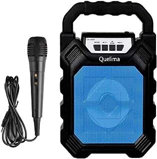 B Blesiya Mikrofonlu kablosuz Bluetooth hoparlör MP3 U Disk Stereo Subwoofer desteği - Mavi