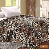 Sweet Home Collection Throw Super Soft Polyester Microplush African Safari Animal Skin Print Blanket-King