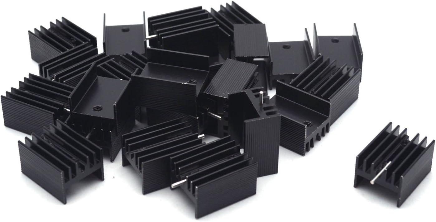 10pcs Aluminium Heat Sink Transistor Radiator for TO220 Triode 20*15*10;I1