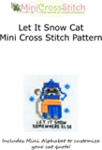 Let It Snow Cat Mini Cross Stitch Pattern