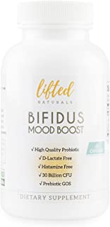 Probiotic - Histamine-Free & D-Lactate Free - Probiotics for Mood with Prebiotics - Bifidus Mood Boost - Prebiotic GOS