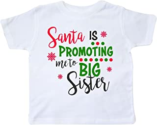 inktastic Santa is Promoting Me to Big Sister Toddler T-Shirt