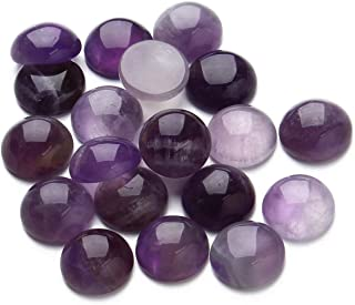 10mm Cabochon Amethyst Stone Cabochon Beads Round Cabochon Beads Crystal Quartz Stone Wholesale for Jewelry Making Diameter (20pcs)