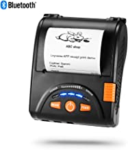 Bluetooth Mobile Thermal Receipt Printer, MUNBYN 2 Inches 58MM Impresora térmica Printer with Leather Belt Compatible with Android Windows Devices for Business ESC/POS, Does NOT Support Square