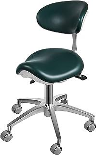 Sedia da lavoro multifunzionale Schienale curvo Galvanotecnica 5 artigli Dentista Tattoo Clinica di bellezza Sgabello puleggia idraulica Rotating the task chair sedia da ufficio colore : Blu