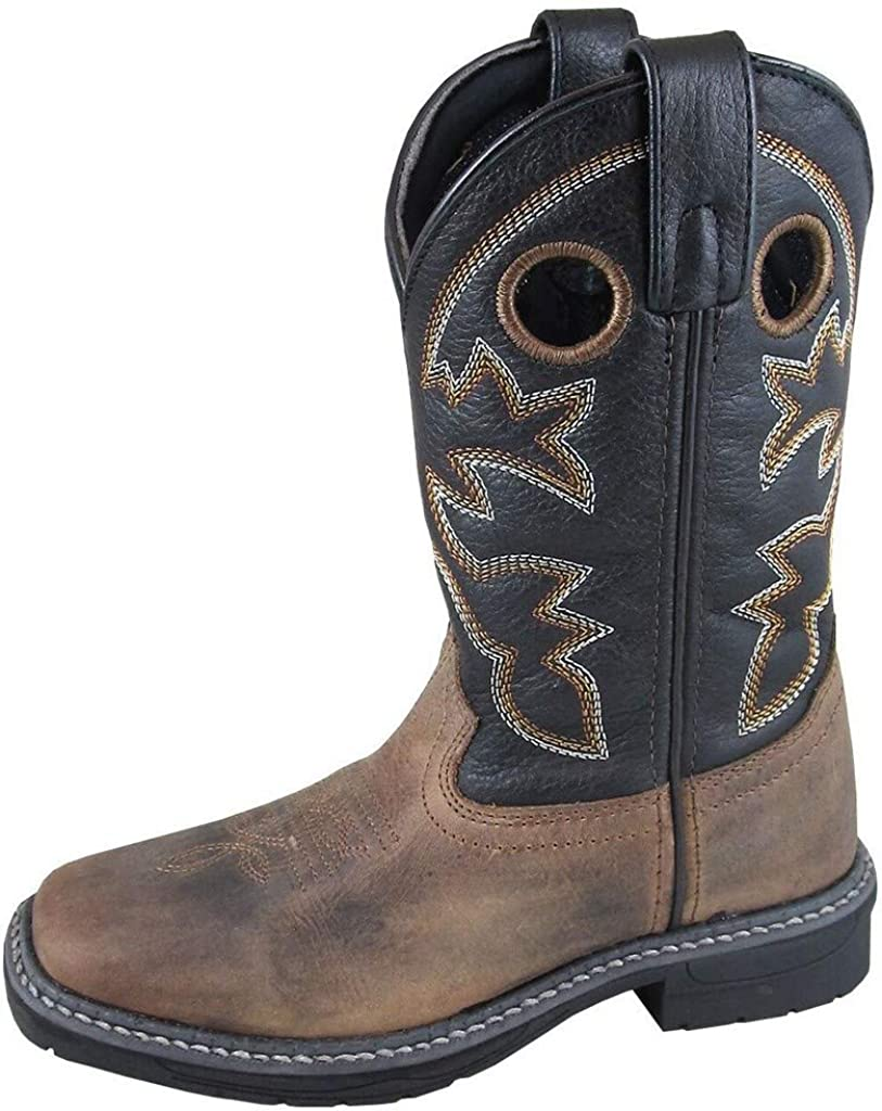 Smoky Mountain Boys' Stampede Western Boot Square Toe Brown 3 D
