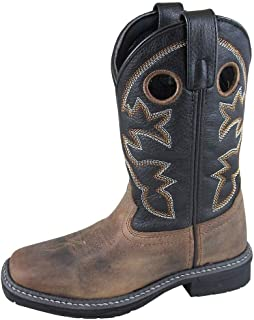 Smoky Children's Kid's Stampede Brown and Black Leather Western Cowboy Boot