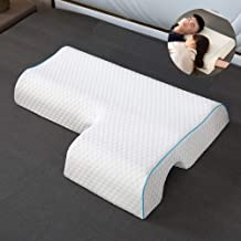 GOADAFOO Cuddling Arm Sleeper Pillow for Men Women - Neck Pillow, Cervical Spooning Couples Pillows Memory Foam Large 4 Co...