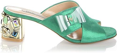 Marino Fabiani 6729 Grün Suede Summer Italienische Designer Damen Sandalen