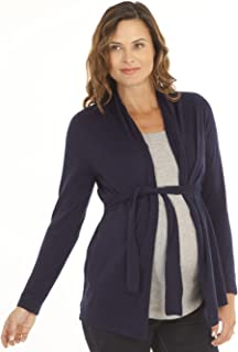 Angel Maternity - Roll Collar Cardigan with Waist Tie - The Perfect Breastfeeding Cover
