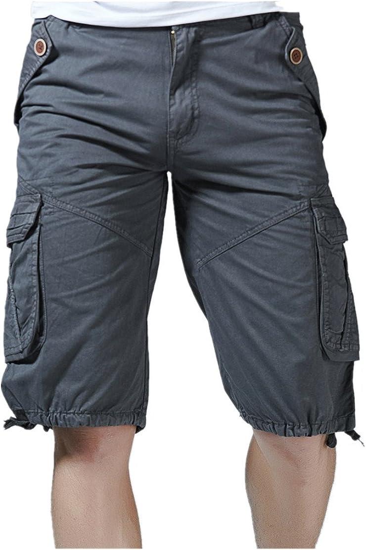 WEUIE Fashion Mens Casual Pocket Beach Work Casual Short Trouser Shorts Pants