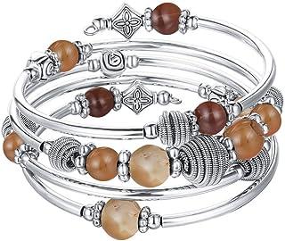 Beaded Chakra Bangle Turquoise Bracelet - Fashion Jewelry...