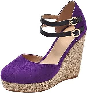 Melady Women Fashion Summer Shoes Wedge High Heels Weaving Sandals