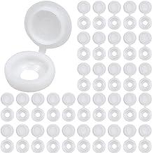 100 Stks Plastic Schroef Cap, Scharnierende Schroef Hoofd Covers, Vouw Schroef Snap Covers voor Meubelkast Plank, Decorati...