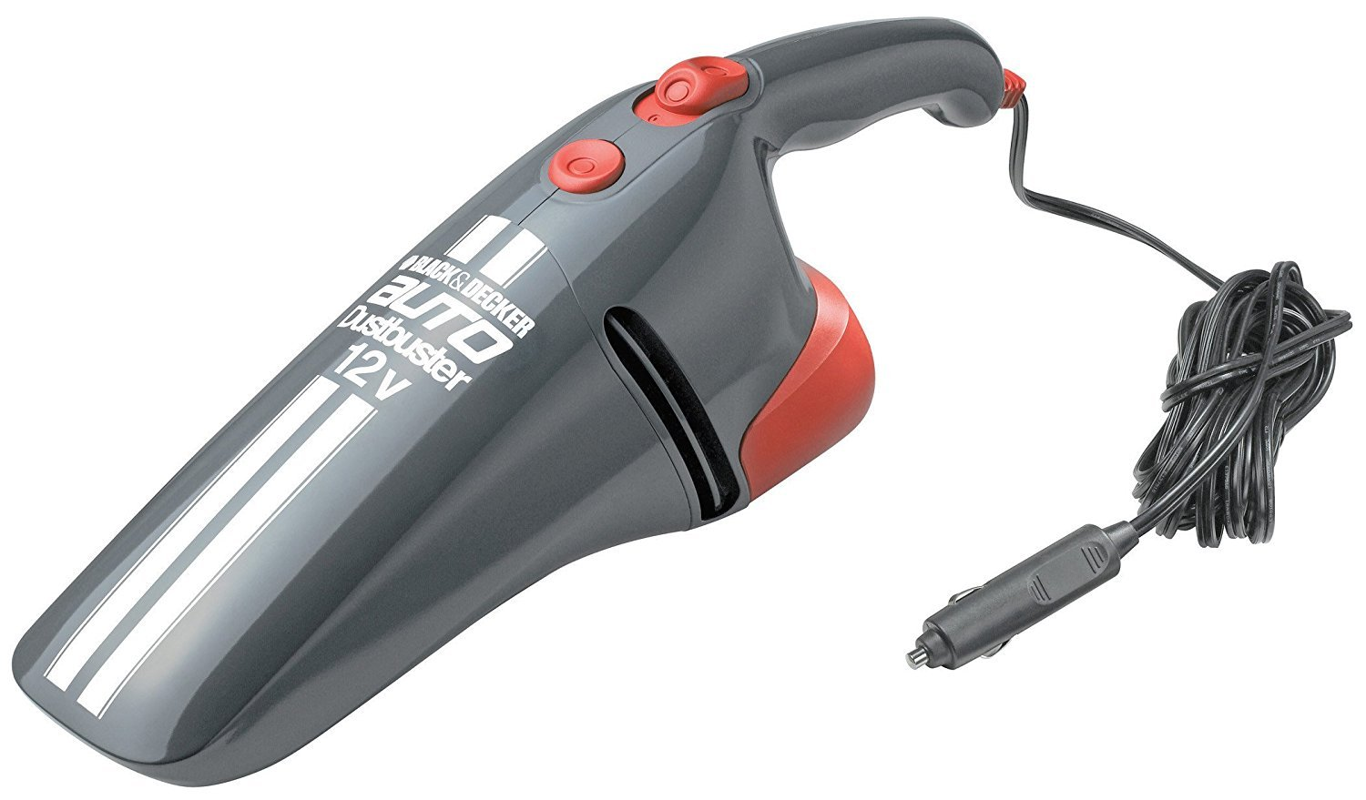 Black+Decker AV1205 - Aspirador de Mano Coche, Depósito 286 ml, Adaptador Mechero, 12 V, Color Gris y Naranja: Amazon.es: Coche y moto