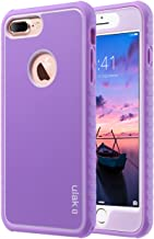 ULAK iPhone 7 Plus Case, iPhone 7 Plus Case Purple, Slim Shockproof Flexible TPU Bumper Case Durable Anti-Slip Slim Front and Back Hard Protective Cover for Apple iPhone 7 Plus 5.5 inch Purple