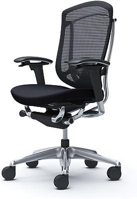 オカムラ オフィスチェア コンテッサ セコンダ 可動肘 ハイバック ウレタンキャスター仕様 クッション ブラック CC83XS-FPC1