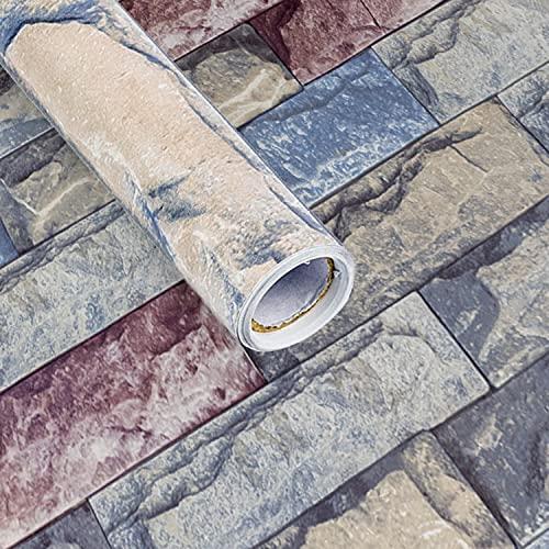 papel para forrar muebles - adhesivo impermeable autoadhesivo - papel adesivos decorativos muebles - adesivos para muebles - vinilo adhesivo muebles (Piedra Gris)