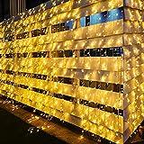 600 LEDs 6Mx3M Tenda Luminosa XIBOO Natale Esterno Interno Collegabili Luci di Natale 8 modalità di funzionamento catena luminosa tenda per decorazione d'interni matrimonio Decorazione bianco caldo