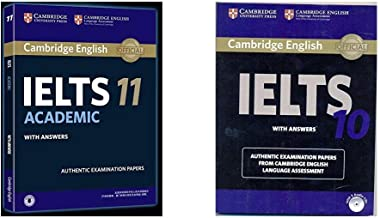 Cambridge English: IELTS 11 Academic with Answers + Cambridge IELTS 10 Student's Book with Answers (Book & CD) (Set of 2 Books)