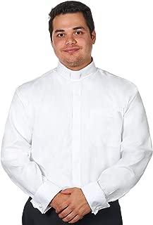 Men's Tab Collar Clergy Shirt Long Sleeves