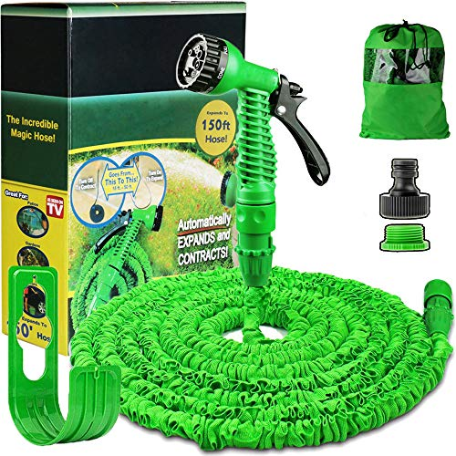 Running Bulls 150ft Garden Hose Expandable:Expanding Magic Hose With Multiple Spray Settings/Hose...