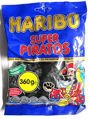 10 x HARIBO SUPER PIRATOS LAKRITZ 360g Incl. Goodie von Flensburger Handel