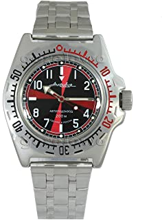 Vostok Amphibian 110650 / 2415b Scuba Diving Military Russian Watches Mechanical Automatic Mens Black