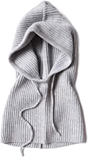 Scarves Scarf Scarves Hooded Scarf Female Winter Warm Knit Scarf Men's Head hat Scarf Dual Purpose Scarves (Color : Gray)