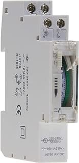 Temporizador diario analógico para montaje en panel, en pasos de 24horas 15min, 230V, max. 3500W. Segmento empotrable con caja de distribución