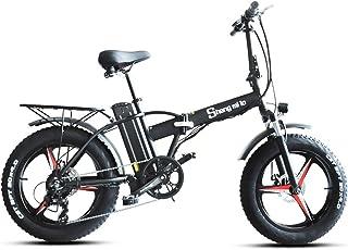 20インチ 折りたたみファットバイク 20*4.0迫力の極太タイヤ フル電動/アシスト/ペダル 3WAYモデル選択可能 48V 15Ah強力なリチウムバッテリー、5レベルアシス...
