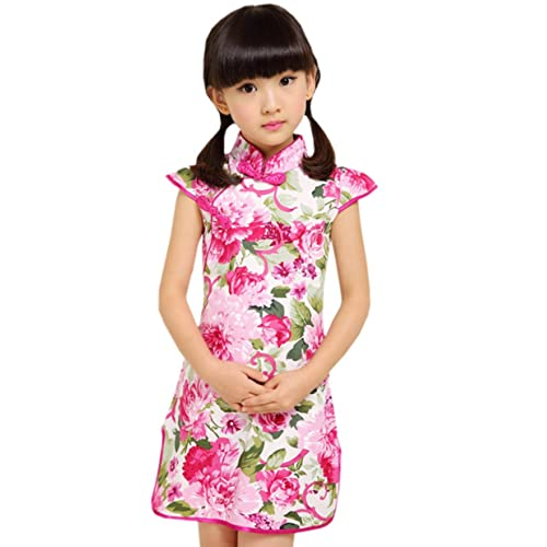 427703d6ba XueXian(TM) Kids Chinese Traditional Style Short Sleeve Party Gown Qipao  Dresses