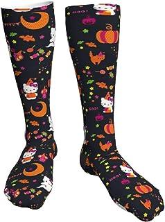 iuitt7rtree, Hello Kitty Funny Cute Novedad Unisex Calcetines Gruesos Calcetines de tacón Negro Suave Calcetines Funky Regalos para niños y niñas
