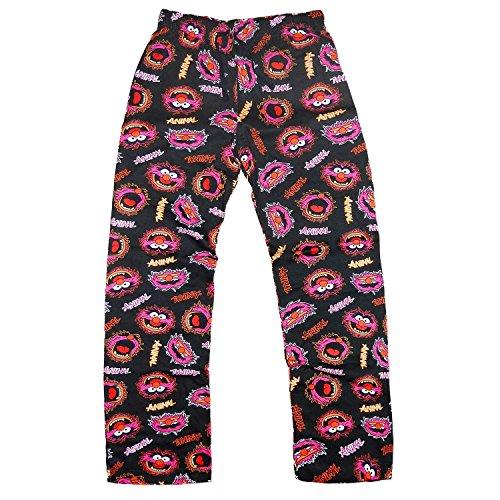 Jungen Kinder Disney Muppet Tiermuster Netzwerfer Superhelden Hausanzug Pyjama Schlafanzug Nachtanzug Unterteil Hose(Schwarz) (7-8)