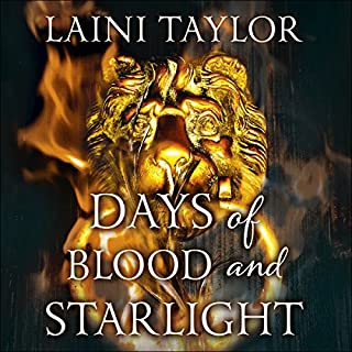 Days of Blood and Starlight     Daughter of Smoke and Bone, Book Two              By:                                                                                                                                 Laini Taylor                               Narrated by:                                                                                                                                 Khristine Hvam                      Length: 15 hrs and 16 mins     91 ratings     Overall 4.6