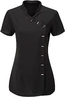 Ladies Short Sleeve Beautician Spa Tunic Womens Hairdressing Fancy Uniform Top