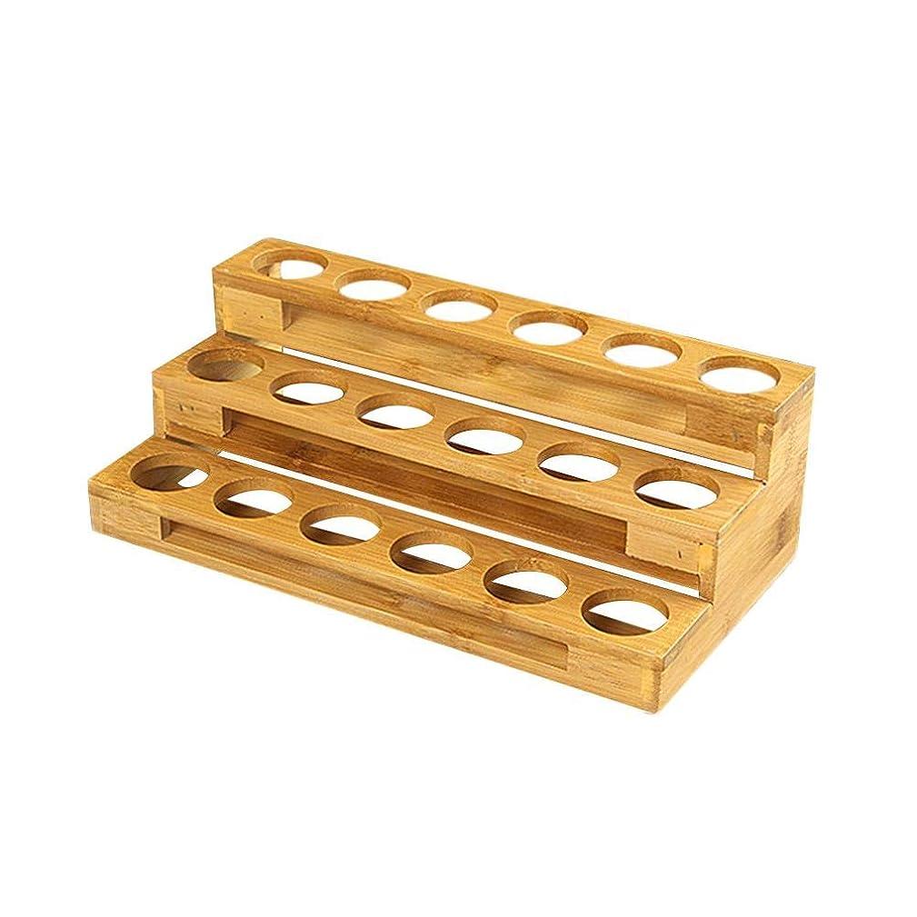 繊細概してまたはどちらかエッセンシャルオイル収納ボックス 自然木製 エッセンシャルオイルオイル 収納 ボックス 香水収納ケース はしごタイプ アロマオイル収納ボックス 18本用