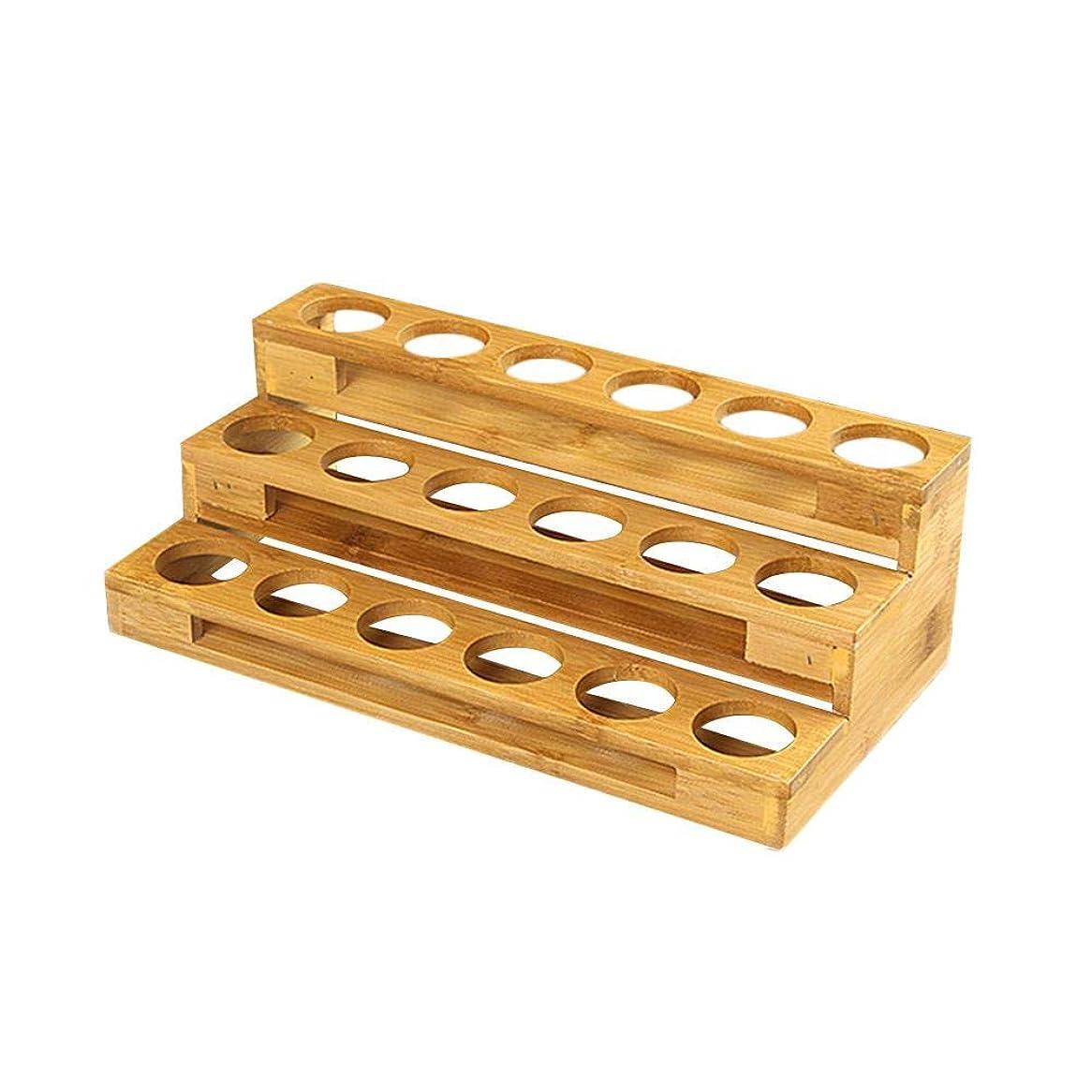 日マーガレットミッチェルメロディアスPursue アロマオイルスタンド 精油収納 香水展示スタンド エッセンシャルオイル収納 木製 18本用