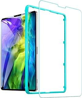 ESR ガラスフィルム iPad Air 4 用 iPad Pro 11 2020と 2018年版対応 保護フィルム ガイド枠付き HDクリア 強化ガラスフィルム