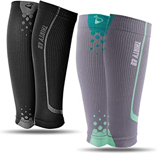 Graduated Calf Compression Sleeves by Thirty48 | 15-20 OR 20-30 mmHg | Maximize Faster Recovery by Increasing Oxygen to Muscles