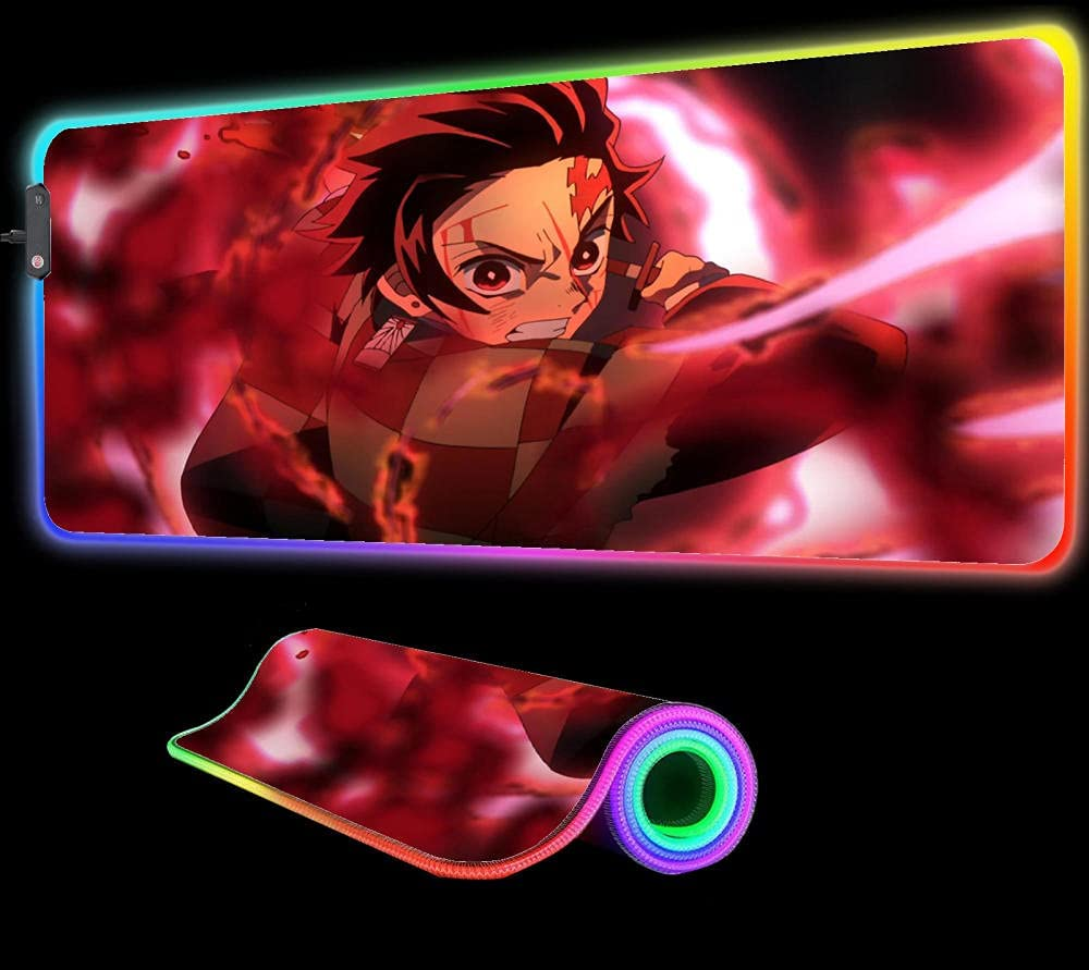 Gaming Max 88% OFF Mouse Pad Demon Slayer G RGB Manufacturer direct delivery Large Anime